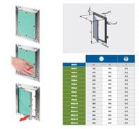 Plasterboard Access Panels with Aluminium Frame Inspection Revision Hatch Wall and Ceiling Use